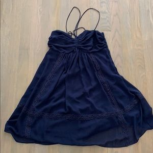 Navy blue summer dress great condition